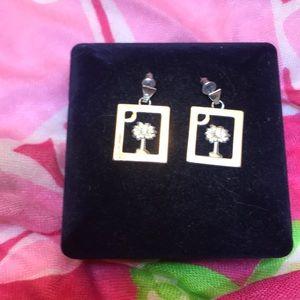 Jewelry - South Carolina Palmetto & Crescent Moon earrings